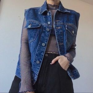 Vintage Calvin Klein denim vest Large